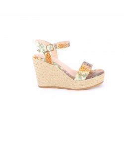 Sandale à talon compensée NACHA