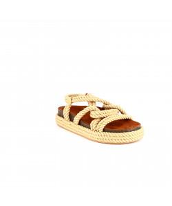 Sandale tressé plate HERMIONE