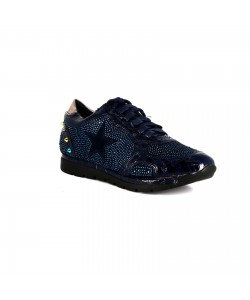 Baskets strass LAVANDE bleu