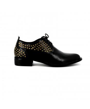 Cassis Côte D'azur Derbies vernies DILLION Noir - Chaussures Derbies Femme