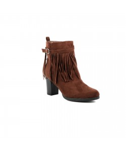 Bottines talon carré JAIS Marron