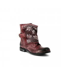 Bottines cuir GINOLA Bordeaux