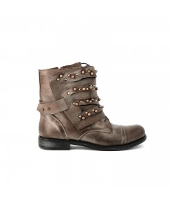 Bottines cuir GABY Taupe