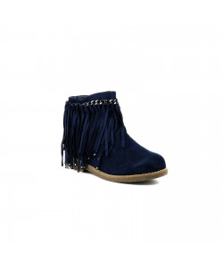 Bottines franges JOVANY Marine