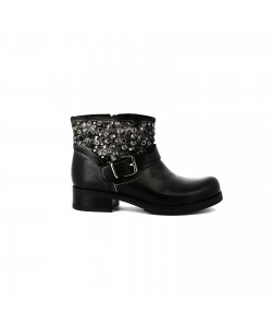 Bottines motardes KRISTINE Noir