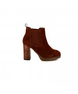 Bottine cuir LUDIVINE Camel