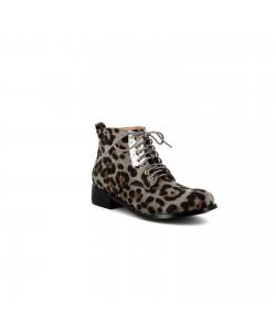 Bottine léopard PRETTY Gris