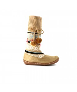 Bottine chaussette FLOCON Beige