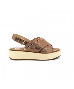 Sandale plateforme NACERA bronze