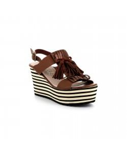 Sandale plateforme TENTATION marron