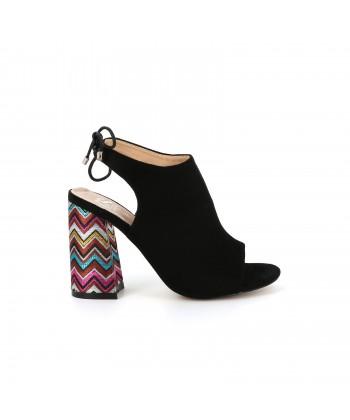 Sandale daim APALA noire