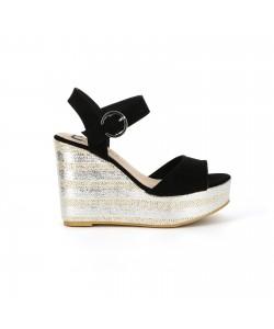 Sandale plateforme ATALYS taupe