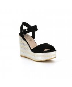 Sandale plateforme ATALYS noire