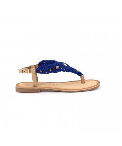 Sandale cuir GAMILIA bleue