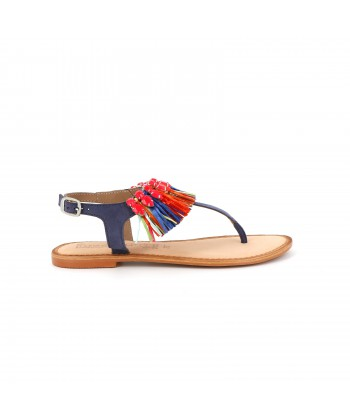 Sandale daim GARIO bleue