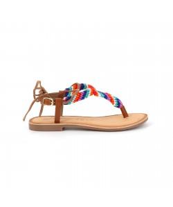 Sandale cuir GABRIAS camel