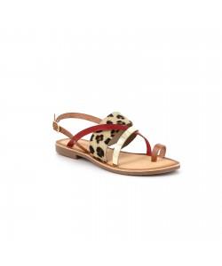 Sandale cuir GROOVE léopard
