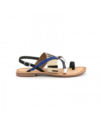 Sandale cuir GROOVE zèbre