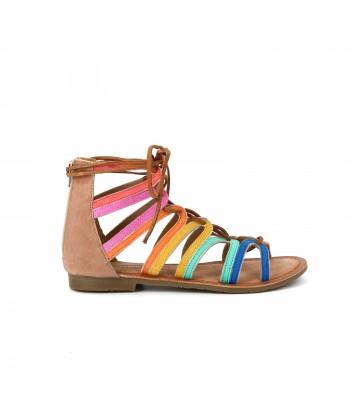Sandale cuir GABISSON multicolore