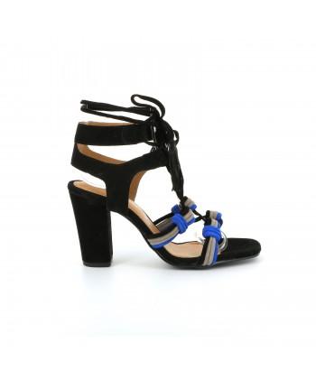 Sandale daim GRACE noir