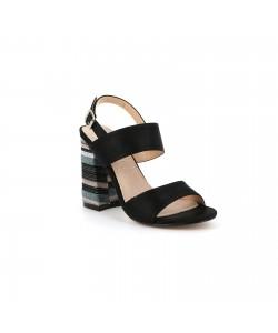 Sandale talon bloc ARISMA noire