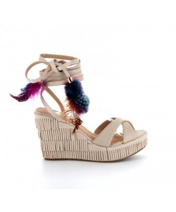 Sandale plateforme CHLOE beige