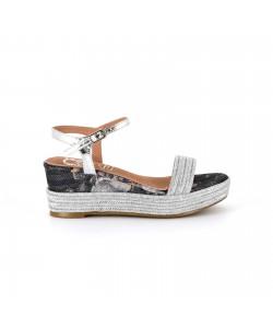 Sandale compensée CUPIDON argent