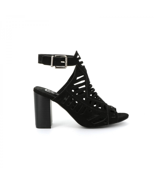 Cassis Côte D'azur Sandale city SHEILA Noir - Chaussures Sandale Femme