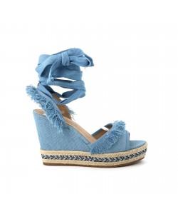 Sandale denim YOANNA bleue claire