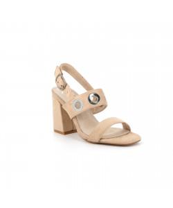 Sandale suédine SIRENE beige