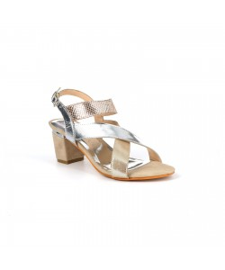 Sandale cuir PAULIA beige