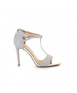 Sandale glitter JOUCASSE argent