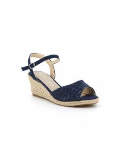 Sandale compensée RACHIDA bleu