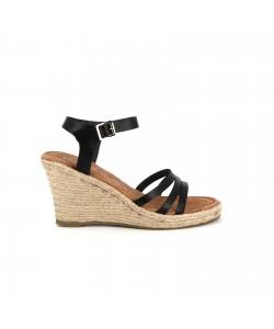 Sandale compensée LOKI noir