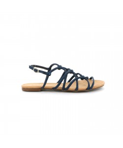 Sandale plate CLIFORD bleu