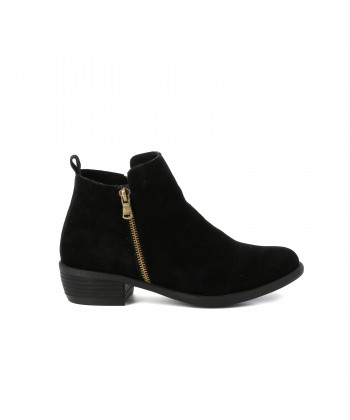 Bottines cuir IRENA noires