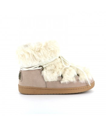 Boots nubuck LAETITIA blanc