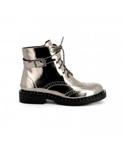 Bottines vernies EMIE argent