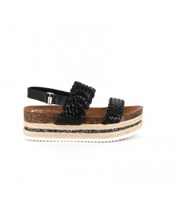 Sandale à bloc glitter JANELLE