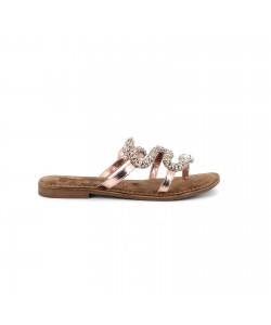 Mule plate en cuir NAMIA