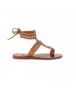 Sandale plate en cuir NELCO