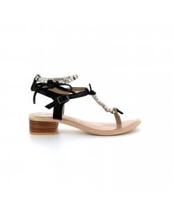 Sandale entredoigt en cuir NIVINE