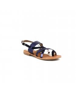 Sandale plate en cuir OCELIA
