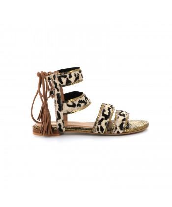 Sandale à lacet en cuir OREGANE